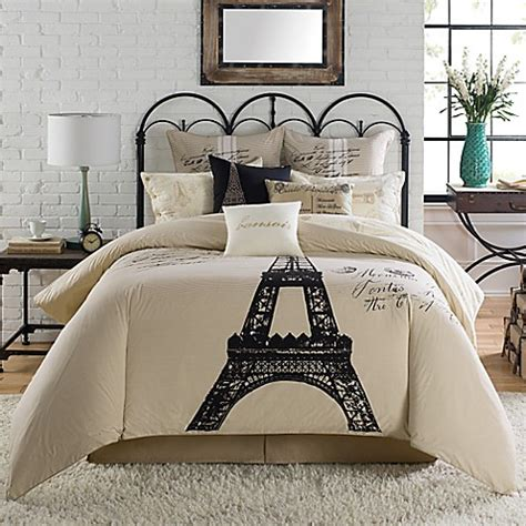 paris themed comforter sets anthology paris comforter set bedbathandbeyond ca