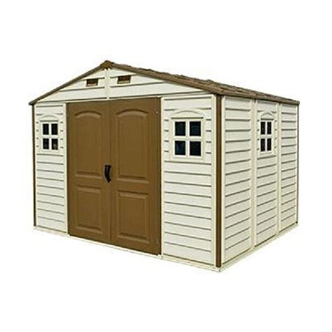 Duramax Plastic Shed by Duramax Woodside Plastic Shed 10ft X 8ft Elbec Garden