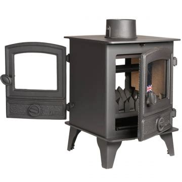 Hunter Hawk 4 Double Sided Wood Burning & Multi Fuel Stove