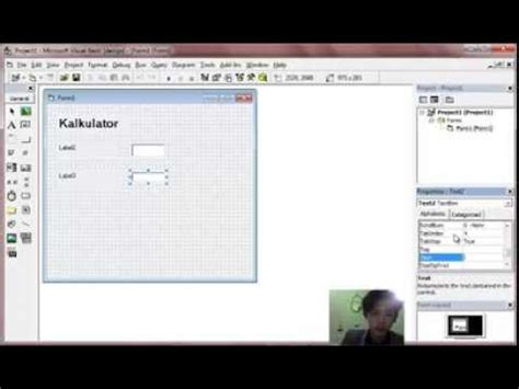tutorial visual basic 6 0 membuat program membuat program kalkulator sederhana menggunakan visual