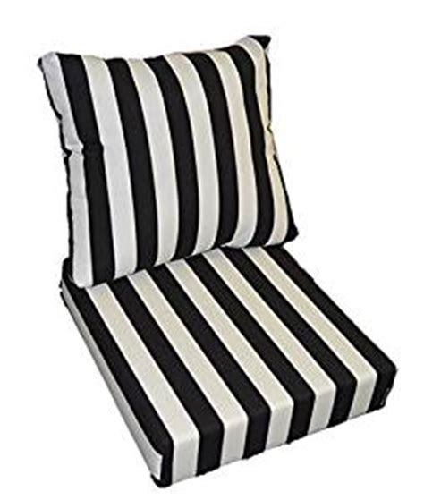 black and white bench cushion amazon com black and white stripe cushions for patio