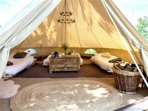 Bedroom Discount Furniture Glampsite With 4 Bell Tents Near Bath In England