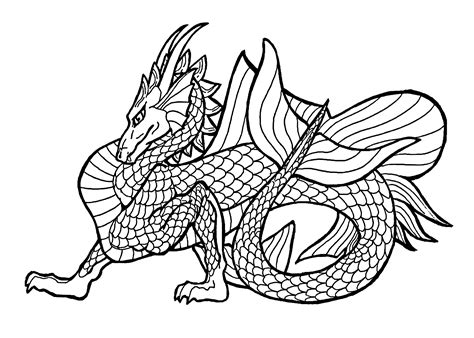coloring pages for teenagers dragon az coloring pages