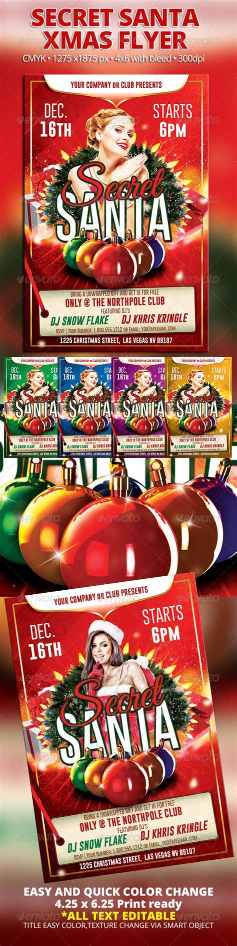 Secret Santa Xmas Flyer Graphicriver Secret Santa Flyer Templates