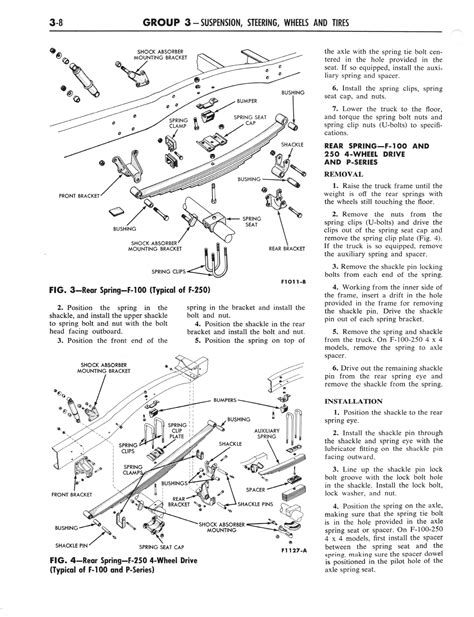 old car manuals online 2012 ford e series lane departure warning 1964 ford and mercury shop manual part 1 part 5 page 48 of 132