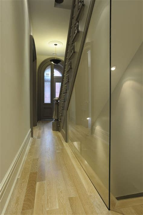 Narrow Stairs Design Glass Wall Partition Modern Entry By Valerie Pasquiou Interiors Design Inc Design