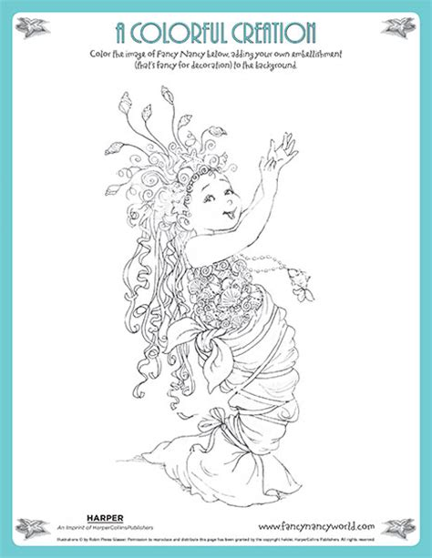 fancy nancy coloring pages free printable fancy nancy printable activities fancynancyworld com