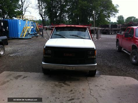 1995 gmc 3500hd dually 13 flat bed flatbed 6 5 l turbo