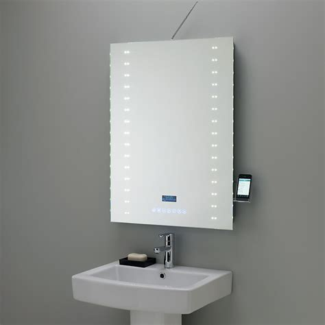 modern bathroom mirror lighting objects of design 175 digital radio mirror mad about
