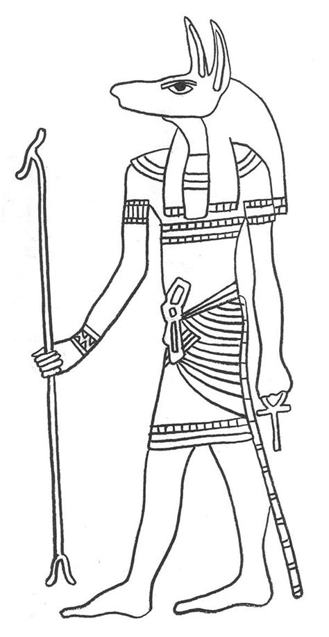 coloring pages egyptian gods egypt god anubis protector of the dead and embalming
