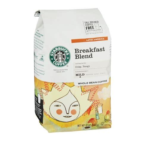 Kopi Starbucks Breakfast Blend Coffee Whole Bean starbucks breakfast blend mild coffee whole bean