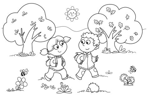 Coloring Pages For Kindergarten Coloring Pages For Kids Outdoor Coloring Pages