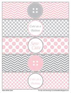 cute as a button water bottle labels printable by