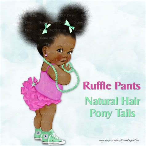 new born free super afro cut afro american bob ruffle pants natural hair pony tails afro by divinedigitaldiva