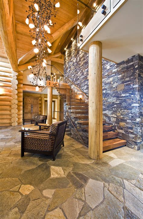 Flagstone Entryway Good Looking Foyer Chandeliers In Entry Traditional With