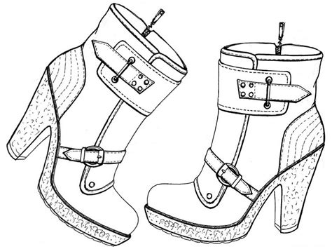 coloriage anti stress chaussures bottines