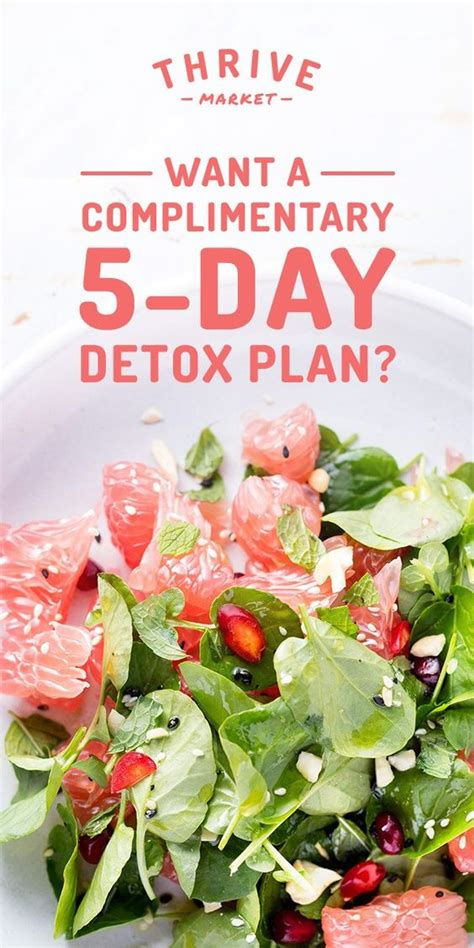 5 Day Detox Drugs by Get Thrive Market S 5 Day Step By Step Detox Book For Free