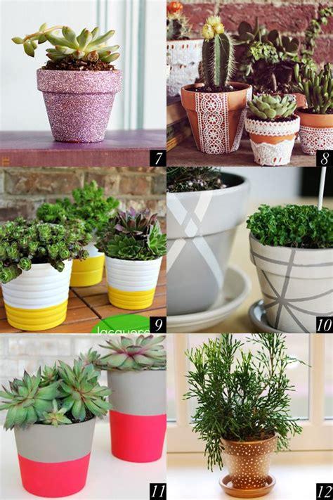 cute flower pots 12 super cute ways to diy flower pots twin stripe blog