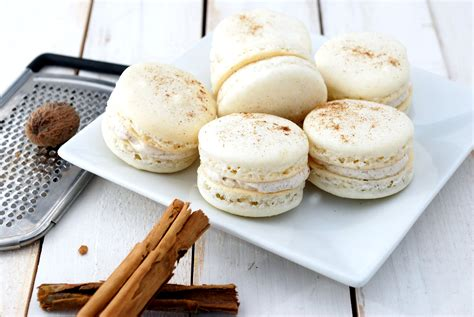 eggnog macarons recipe cake and allie