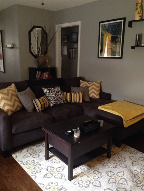 brown and gray living room grey brown yellow living rooms google search living