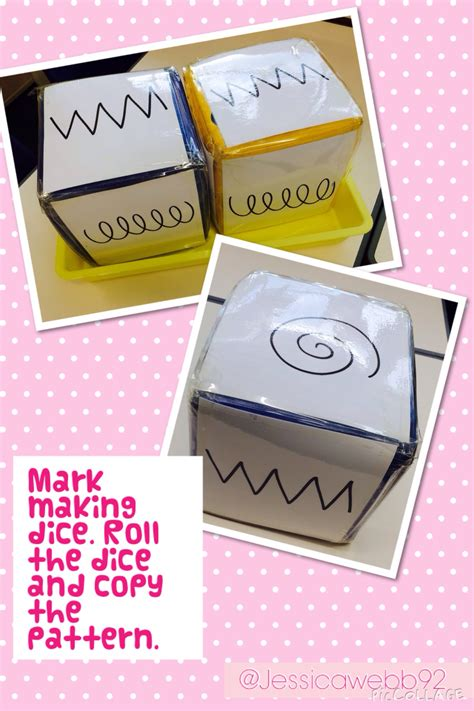 pattern maker eyfs mark making dice roll the dice and copy the pattern