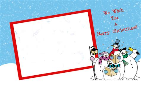 merry photo card template free cards templates create cards for