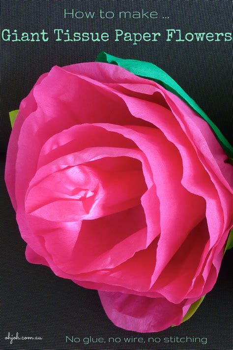 How Do You Make Roses Out Of Tissue Paper - ohjoh let s make tissue paper flowers