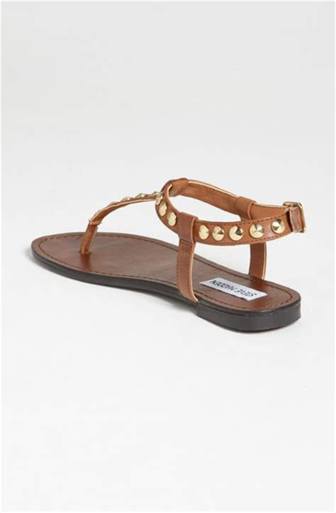 cognac flat sandals steve madden virrtue flat sandals in brown cognac lyst