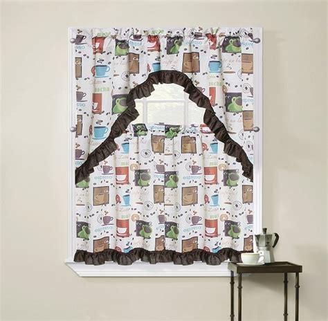 coffee themed kitchen curtains 8 adorable coffee themed kitchen curtains under 40 00