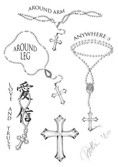 rosary beads and rose tattoo designs rosary collection by anchica deviantart on deviantart