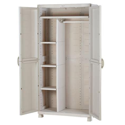 Armoir Rangement by Armoire De Rangement Blanche En Plastique Plastiken 184x90x45