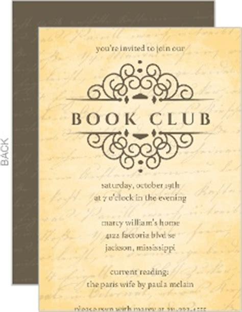 reading stack book club invites book club invitations