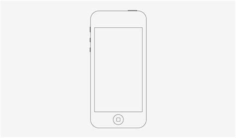 Softcase Icon Line For Iphone 5 iphone 5 wireframe on behance