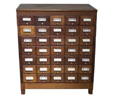 Index Cabinet by Index Card Cabinet Upcycled Recycled