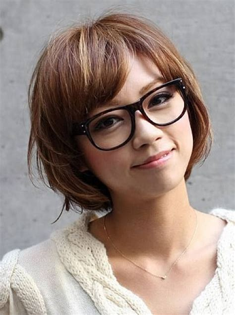 short hairstyles glasses wearers most popular asian hairstyles for short hair bobs