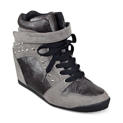 g by guess sneakers lyst g by guess g by guess shoes raurie glitter wedge