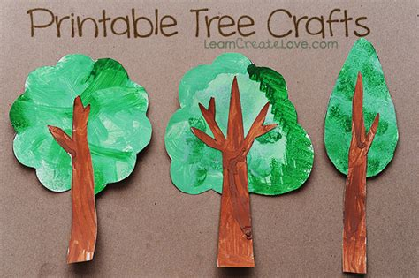 craft ideas for tree printable tree crafts