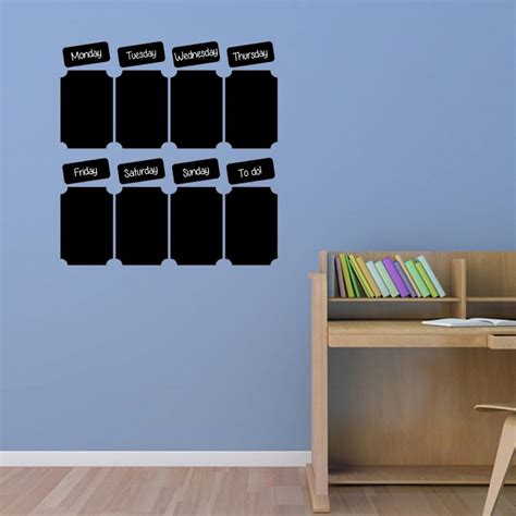 chalk wall stickers chalkboard weekly planner wall sticker by simply colors