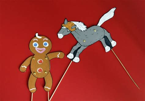 printable gingerbread man puppets the gingerbread man english animated story little red