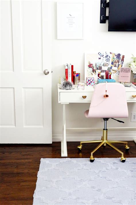 pink gold desk chair pink and gold office chair diy ikea hack gold office