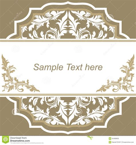 Invitation Design Template Stock Vector Illustration Of Event Card 35489859 Invitation Design Templates