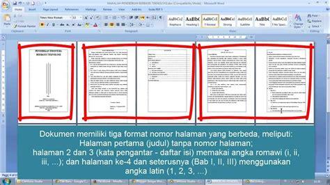 cara membuat nomor halaman karya tulis copy of cara membuat nomor halaman berbeda dalam satu file