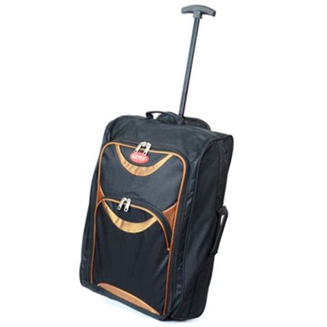 Small Lightweight Cabin Luggage by New Lightweight Small Wheeled Trolley Luggage Flight Bag Cabin Suitcase Ebay
