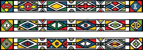 ndebele african border pattern art 2 stock vector set of traditional african ndebele patterns vector