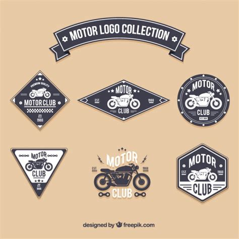 motors logo motor logo collection vector free