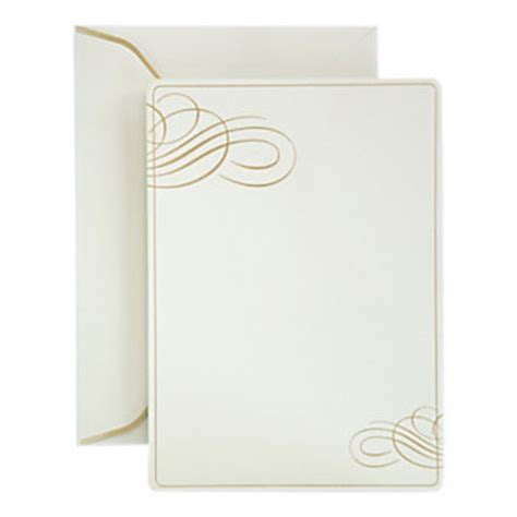 Gartner Studios Formal Invitations And Envelopes Gold Foil Office Depot Envelope Templates