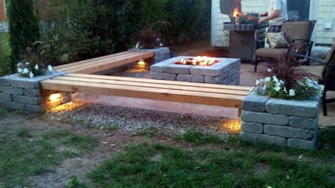 Outdoor Patio Firepit Pit Patios Patio With Pit Bench Ideas