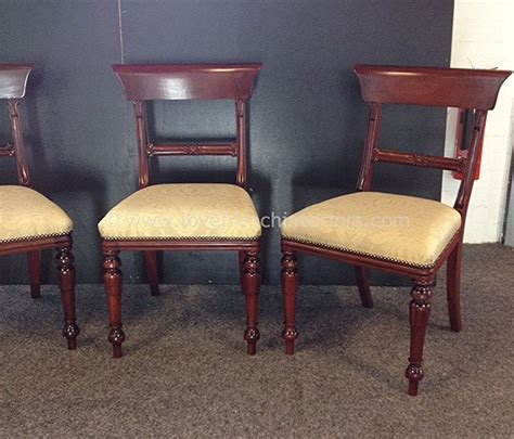 regency scroll top dining chair