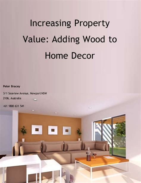 increasing property value adding wood to home decor