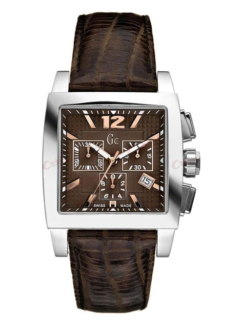 Gc Guess Leather Brown guess collection chronograph brown leather i35005g3